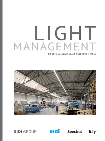Light management industrial facilities and production halls