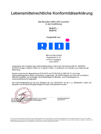Certificat agroalimentaire Ligne lumineuse LINIA FLAT (LED)